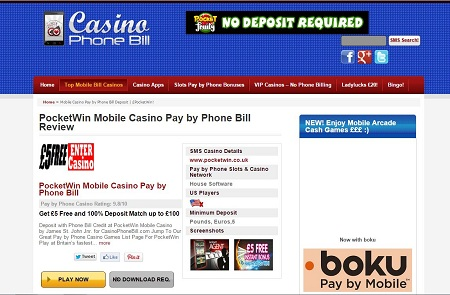 Online Mobile Casino Available